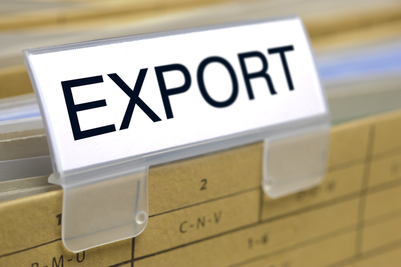 folder marked with export