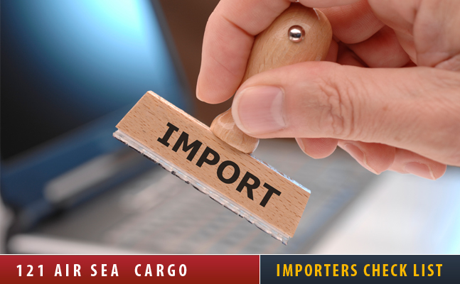 Importers Check List